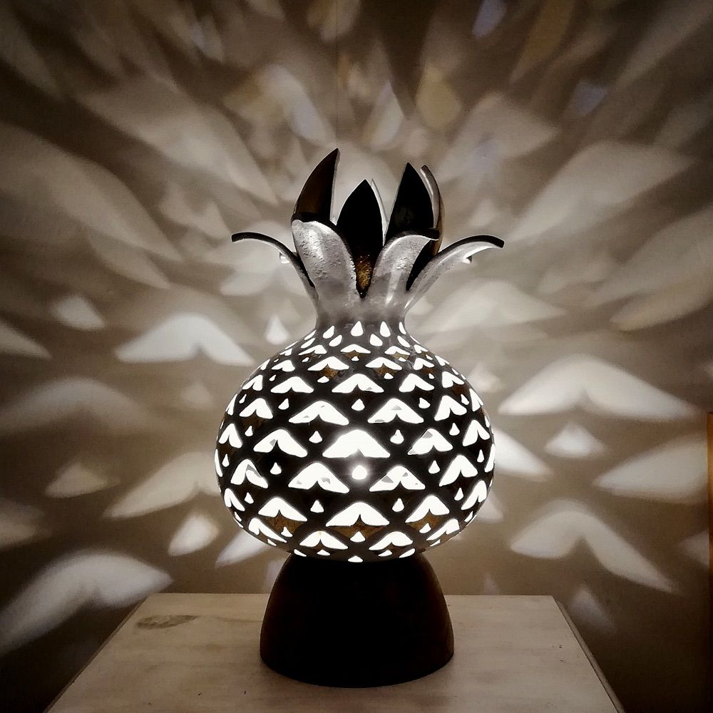 Carved Pineapple Gourd Lamp