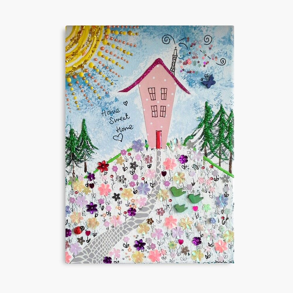 "Canvas ""Home Sweet Home"" Print"