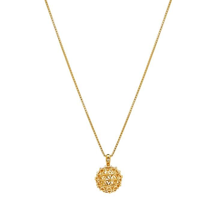 18k Plated Gold Aromatherapy Necklace