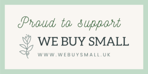 Proud To Support We Buy Small Badge