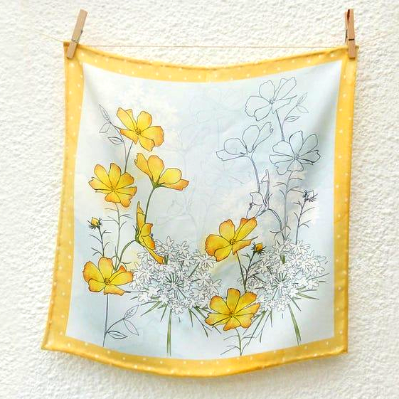 Floral Buttercup Scarf