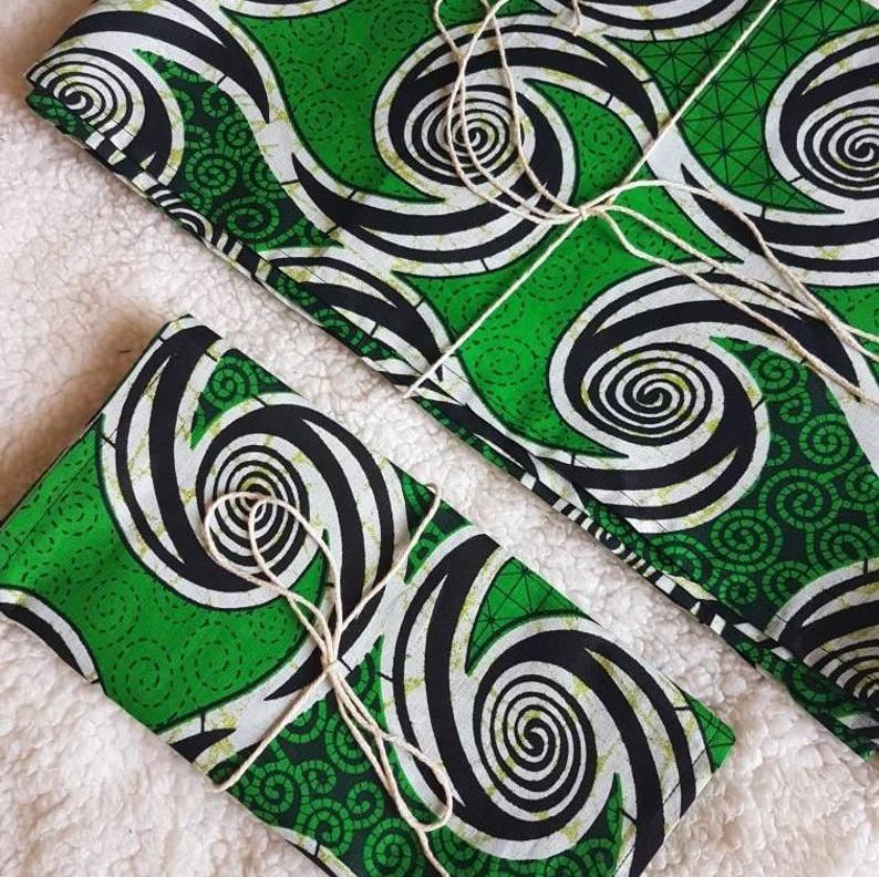 Green Ankara Print Headwraps