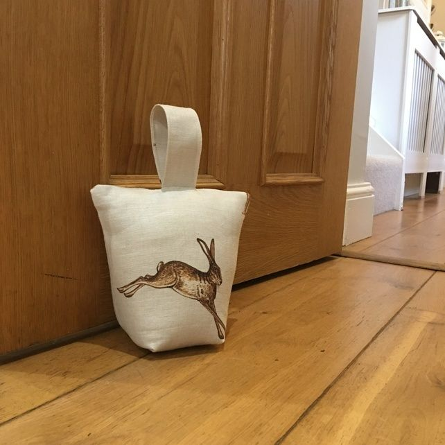 Doorstop featuring an illustration of a hare