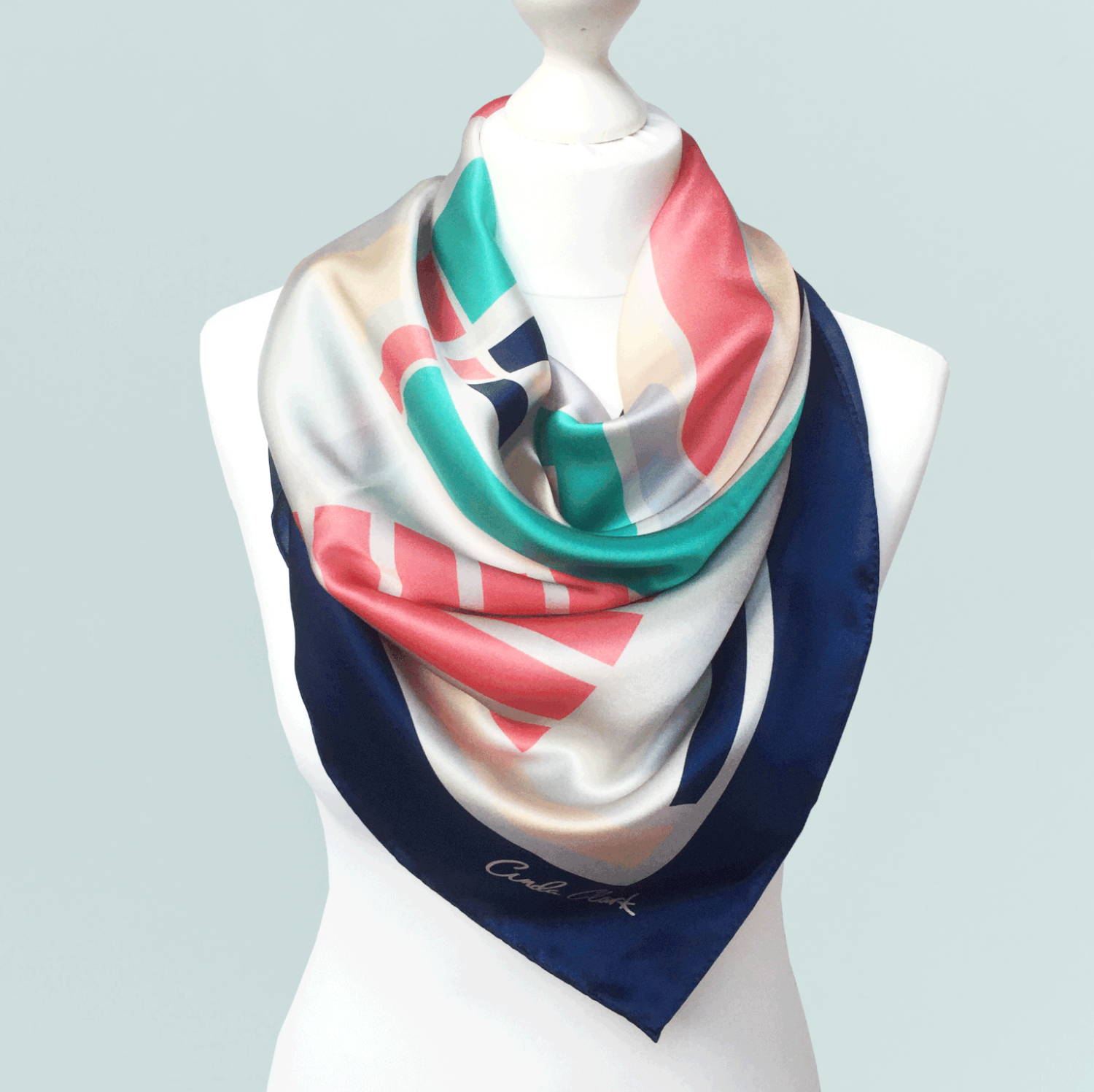 Betsy Scarf Wrapped Around a Mannequin