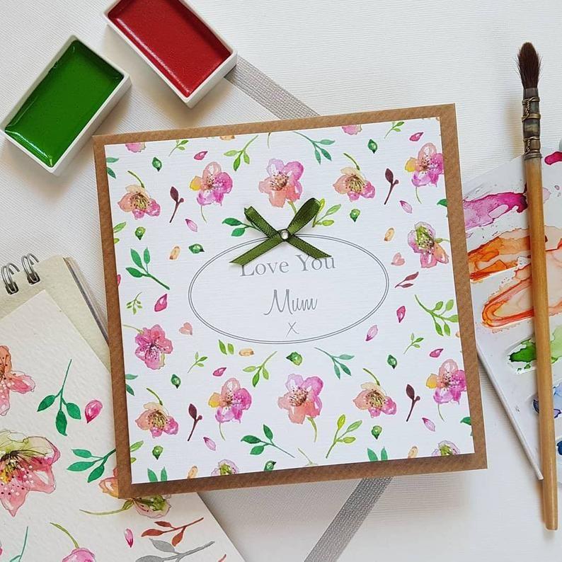 Sakura Blossom watercolour themed card