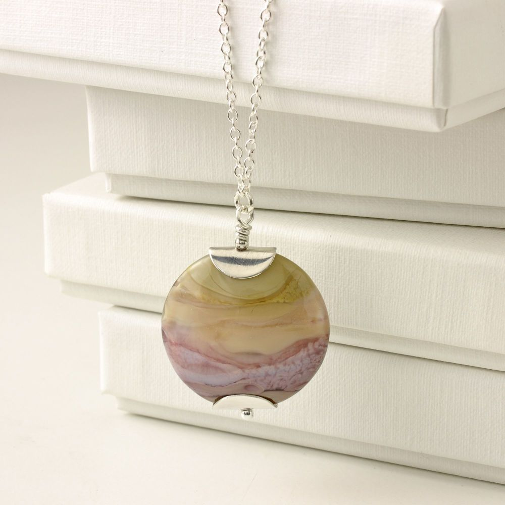Earthen Coloured Lampwork Necklace