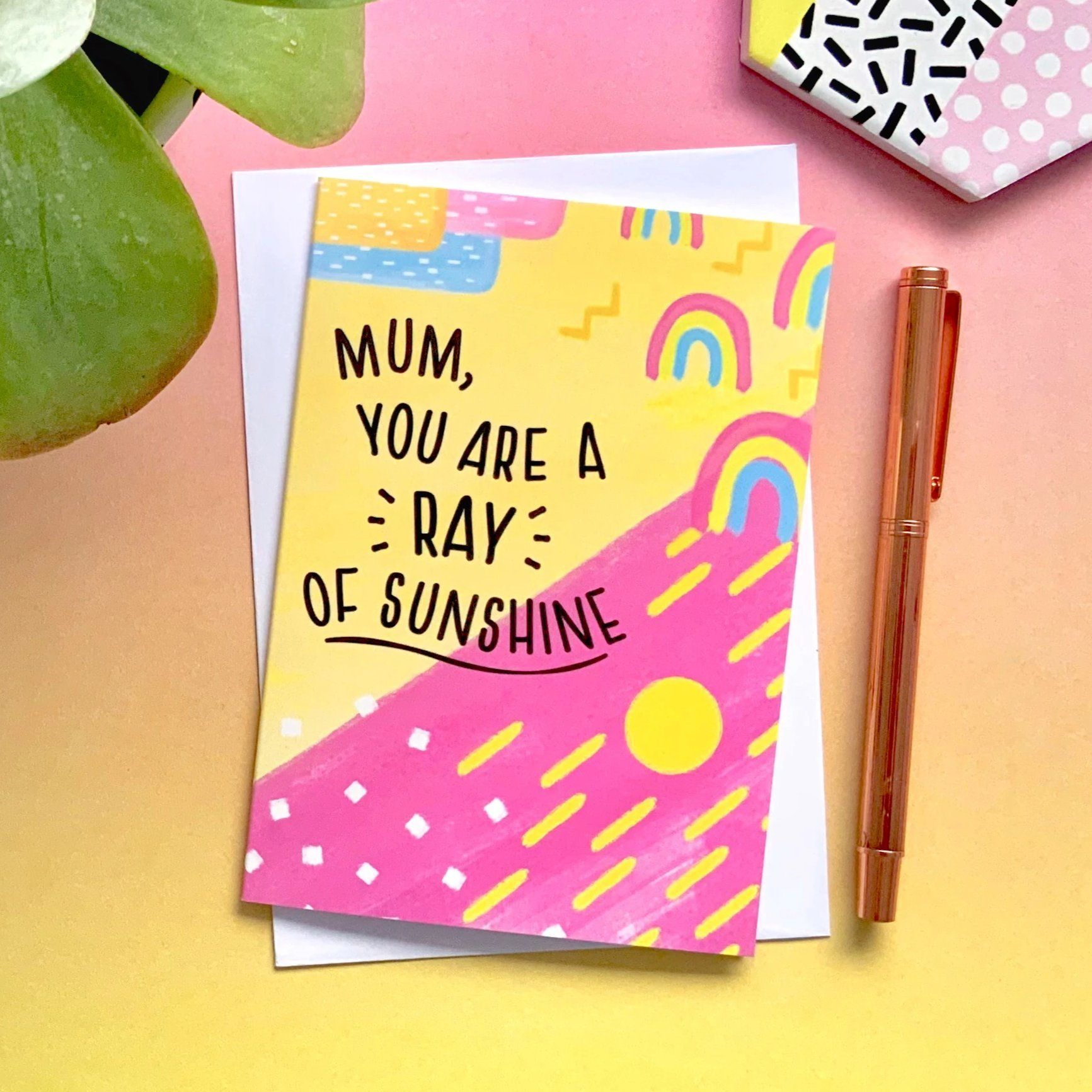 warm and bright Mother's Day Card