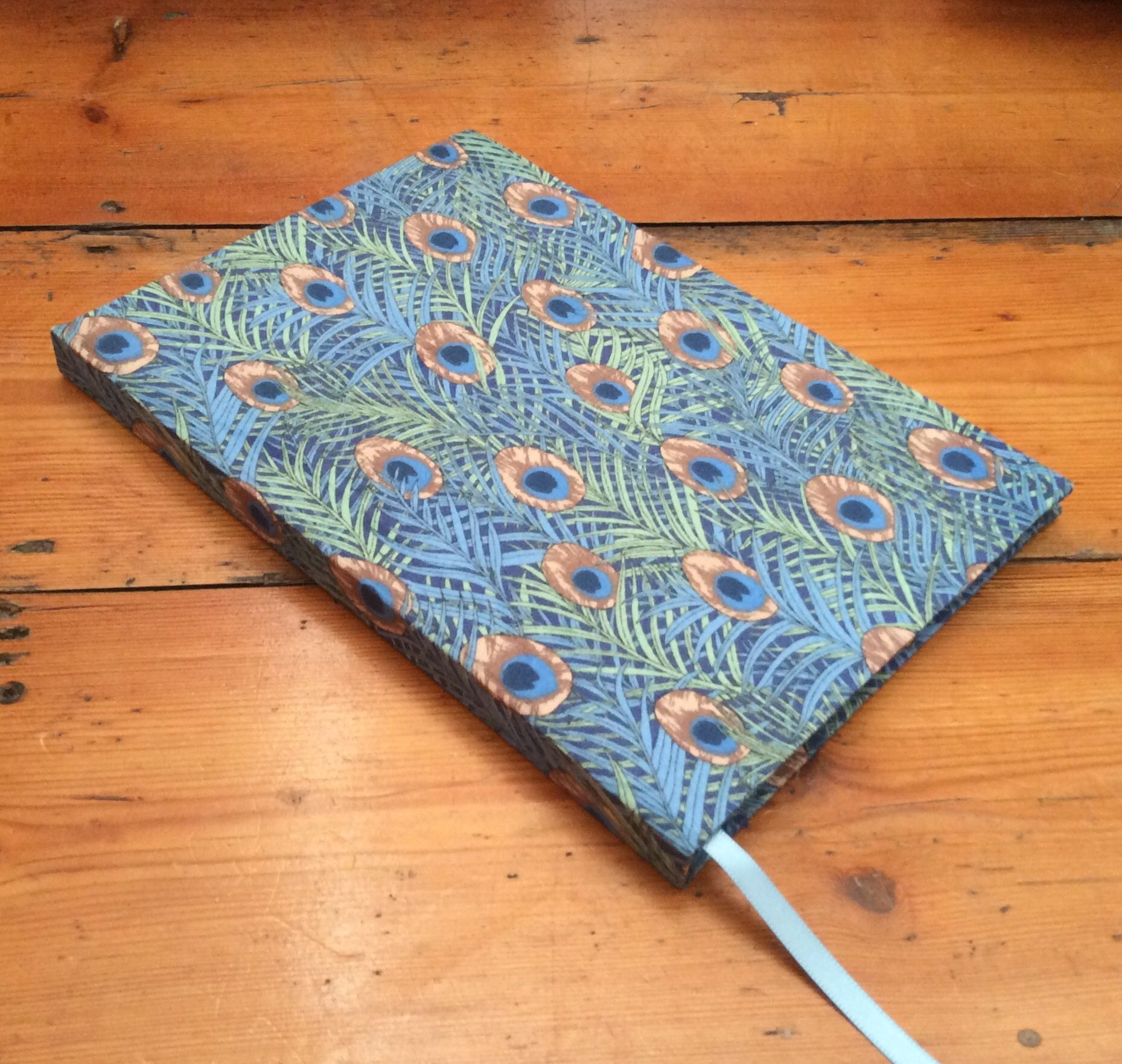 A5 Peacock Feather Pattern Notebook