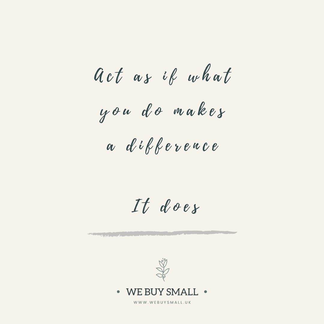 Act as if what you do makes a difference, it does