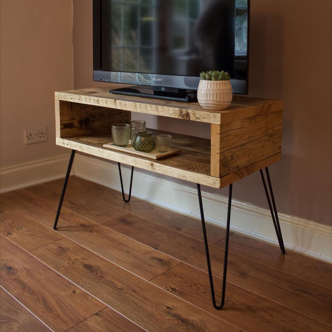 Rustic Timber Television Stand
