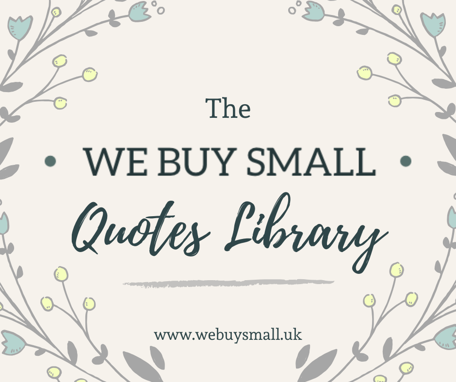The We Buy Small Small Business Quotes Library