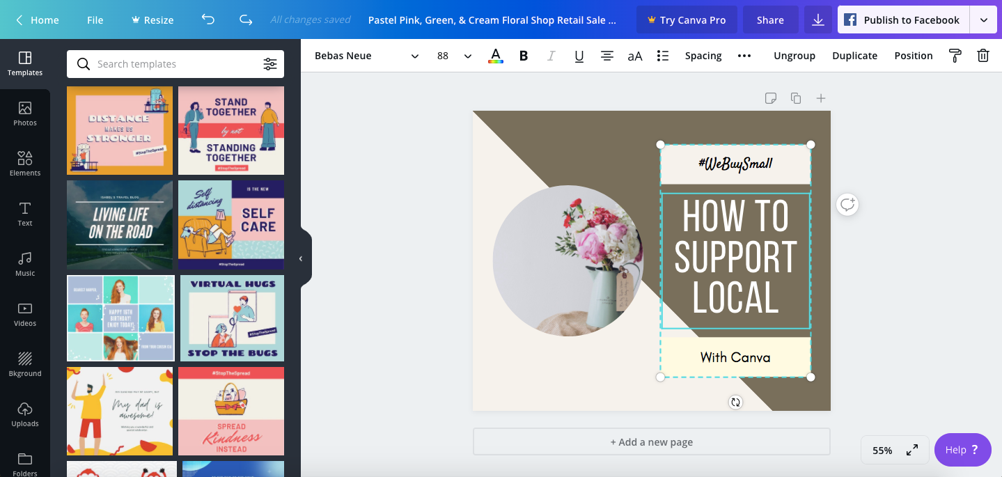 Canva Workspace and Templates