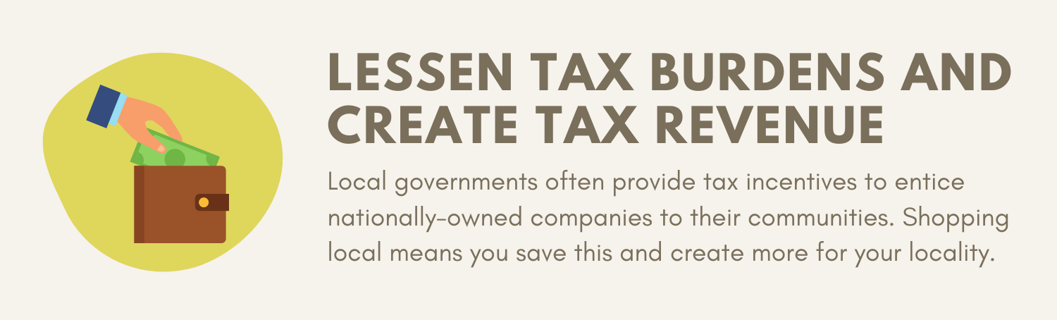 Shopping Locally Reduces Tax Burdens and Creates Tax Revenue