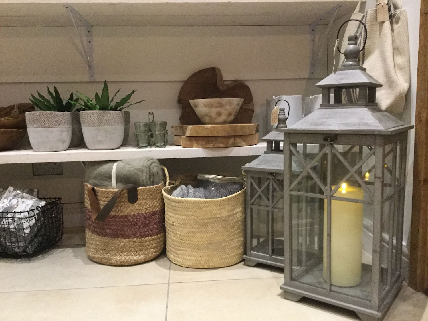 lamps, pots and baskets