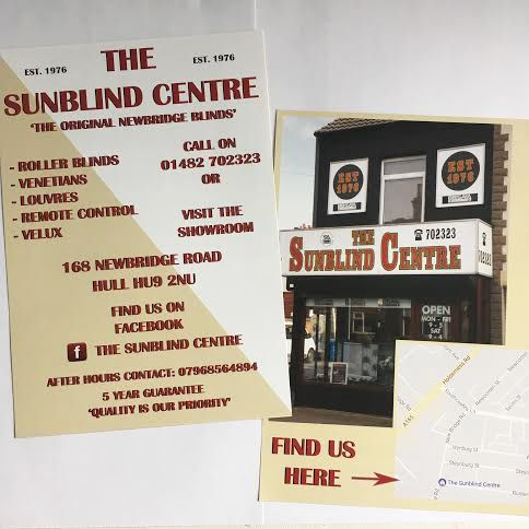 Flyers for the Sunblind Centre by Rachel Anderson