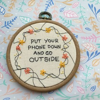 Put Your Phone Down and Go Outside - Original Artwork