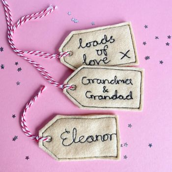 Personalised Felt Gift Tags