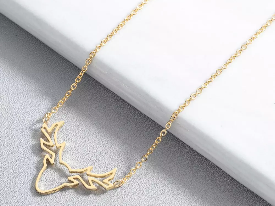 Rose Gold Stag Necklace