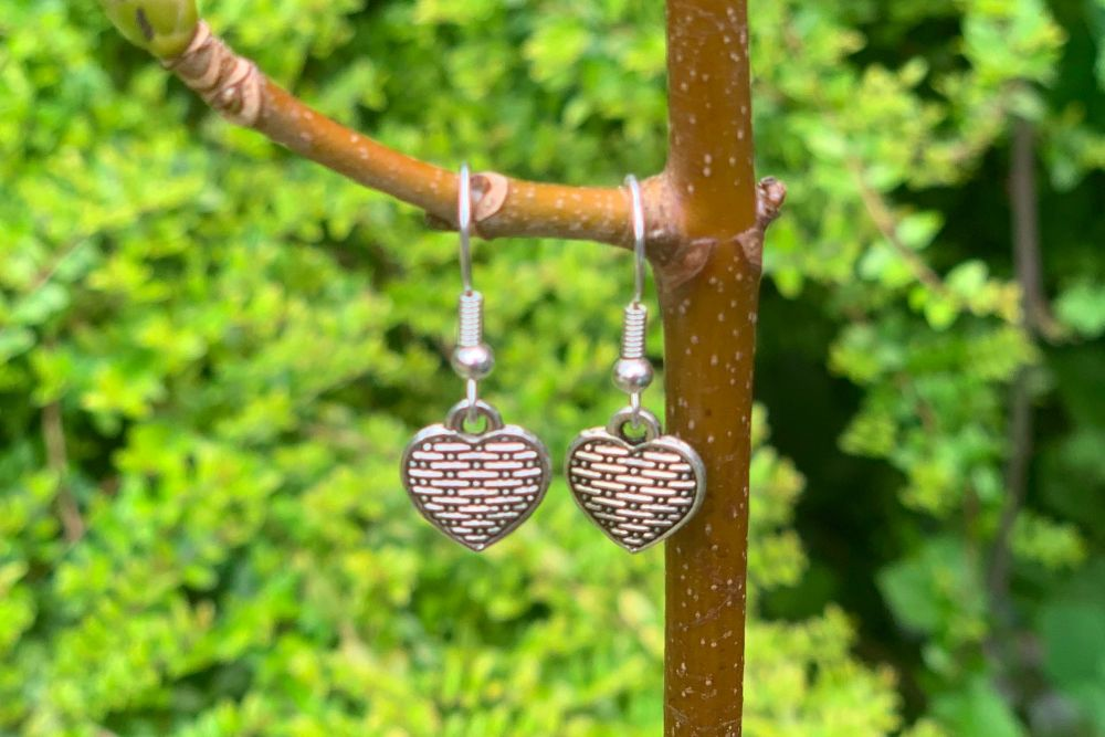 Weave Heart Earrings