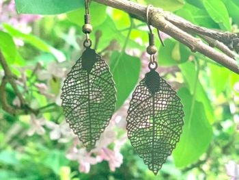 Beautiful Bronze Leaf Earrings
