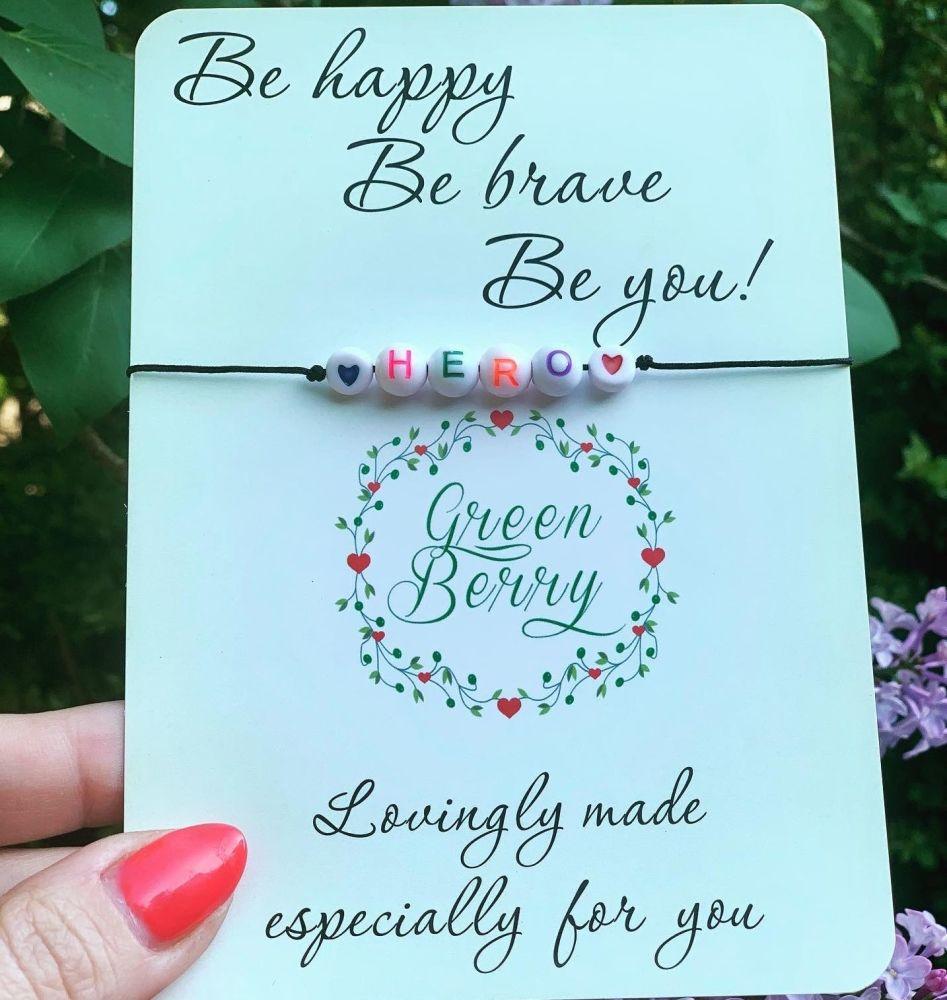 Rainbow Hero Wish Bracelet