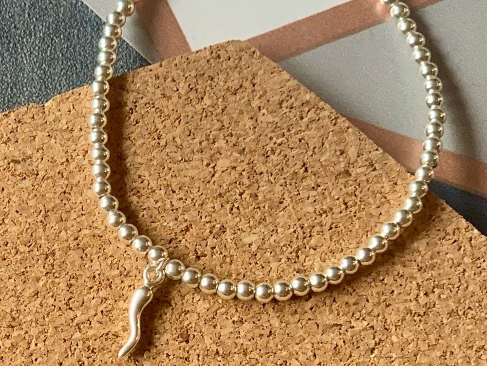 Sterling Silver Horn of Plenty Stacking Bracelet - 4mm
