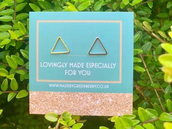 Open Triangle Sterling Silver Earrings - New
