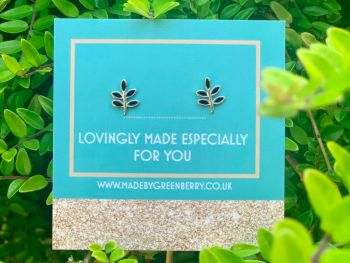 Leaf Sterling Silver Earring Studs - New