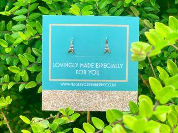 Eiffel Tower Sterling Silver Earrings  - New