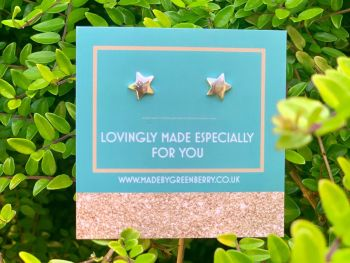 Solid Star Sterling Silver Studs