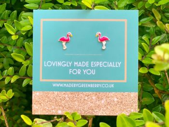 Flamingo Sterling Silver Earrings - New