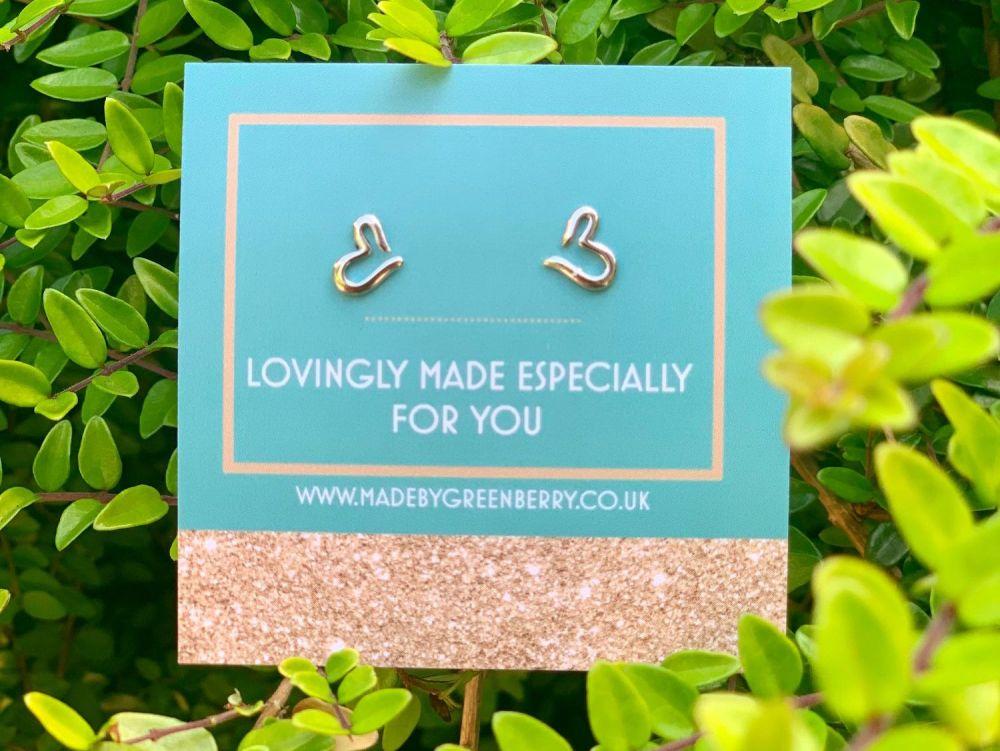 Wiggle Heart Sterling Silver Earrings - New