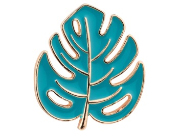 Cheese Plant Leaf  Pin Badge