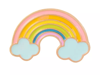 Rainbow and Cloud Pin Badge