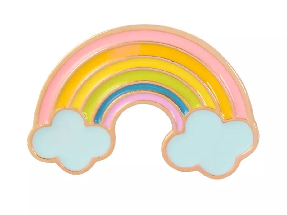 Rainbow and Cloud Pin Badge