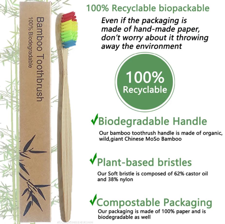 Bamboo Rainbow Toothbrush