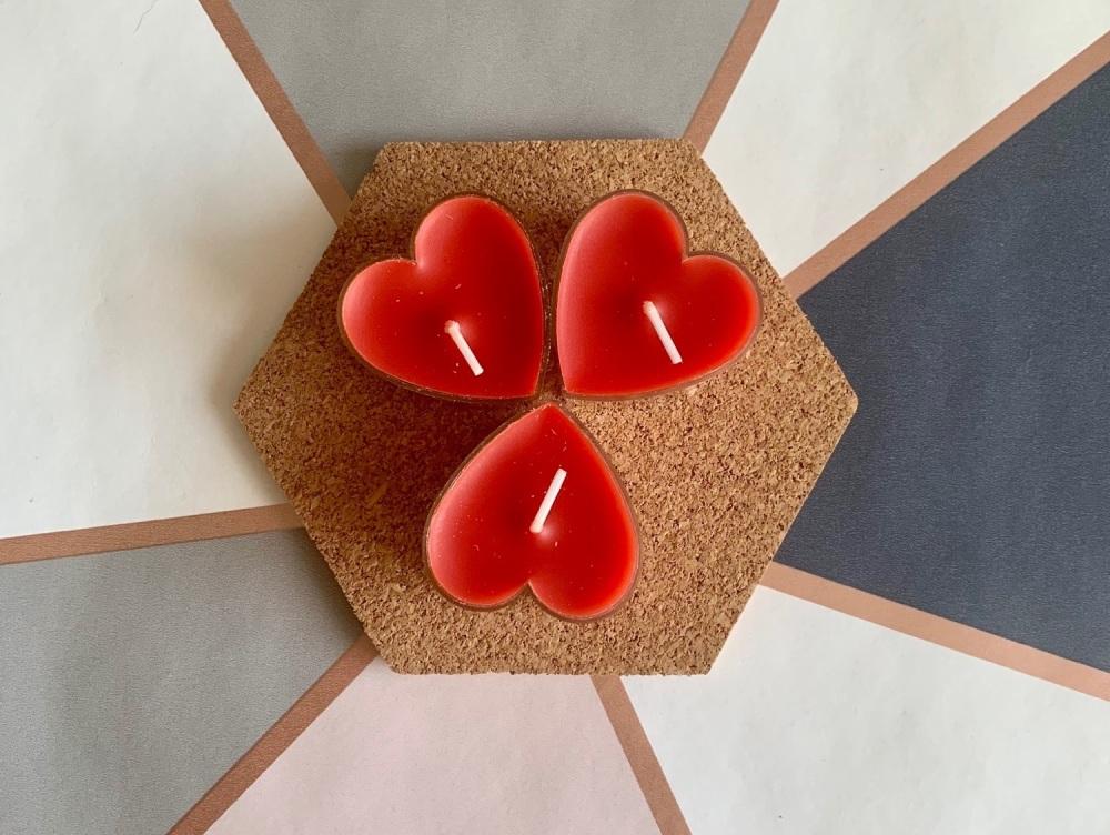 Red Love Heart Tealight
