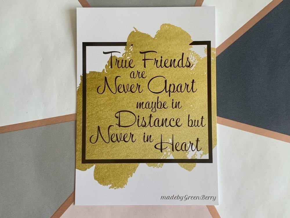 True Friends Postcard