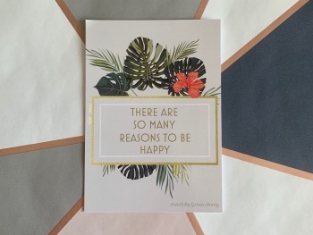 Reasons to be Happy Postcard