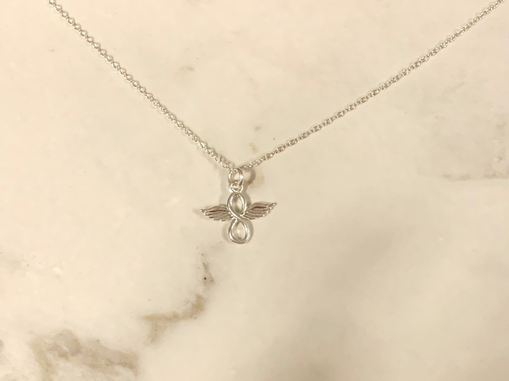 Sterling Silver Infinity Angel Necklace
