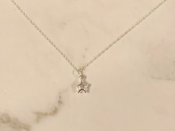 Sterling Silver 3D Star Necklace
