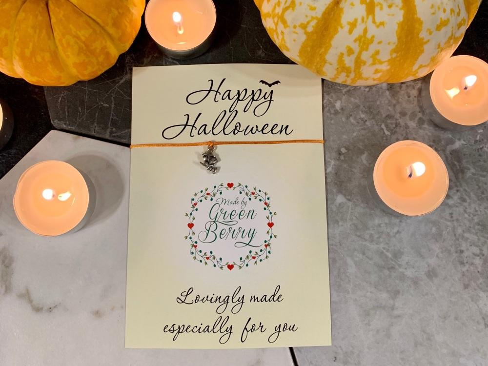 Happy Halloween Witch Wish Bracelet