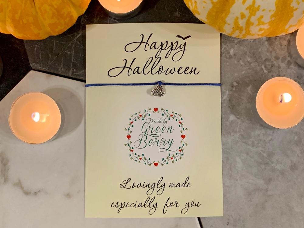Halloween Pumpkin Wish Bracelet