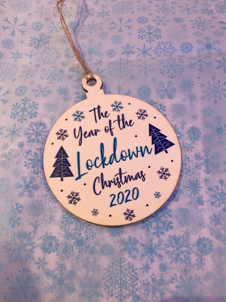 Wooden Lockdown Bauble