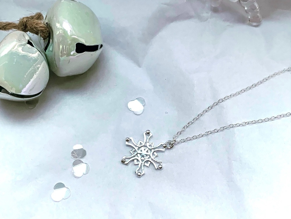Fancy Snowflake Necklace