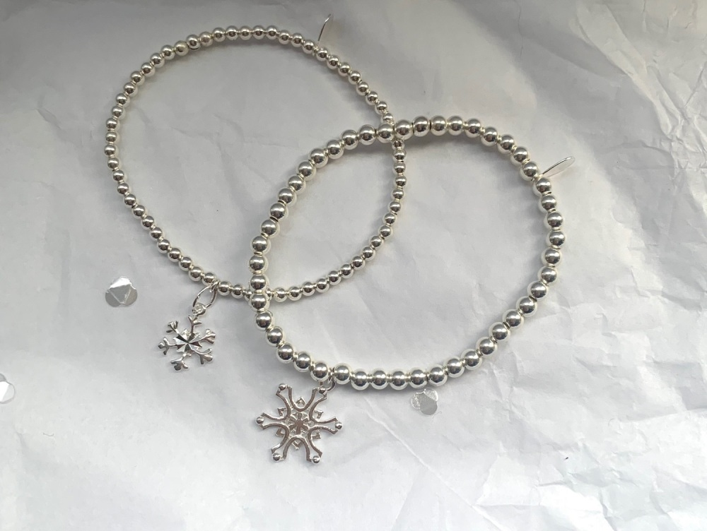 3mm Snowflake Stacking Bracelet