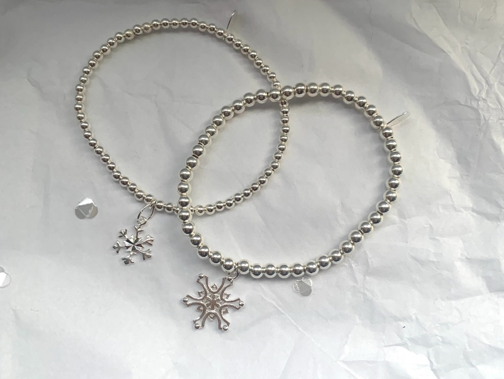 4mm Snowflake Stacking Bracelet