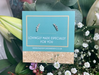 Geometric Crystal Studs - New