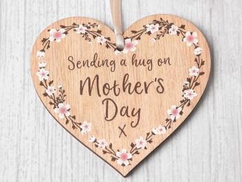 Sending a Hug on Mother's Day Heart