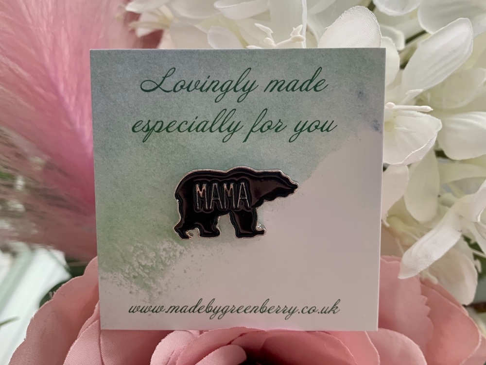 Mama Bear Pin Badge